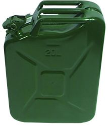 Jerrycan 20 ltr.staal groen