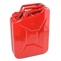 Jerrycan 20 ltr. staal rood