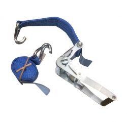 Spanband 50mm 2,5m en ratel 2T blauw