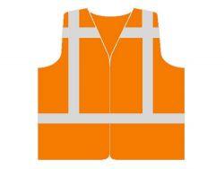 Verkeersvest Oranje vlamvertragend