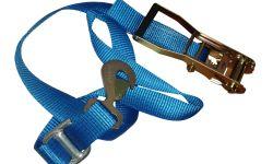 Spanband 50mm en ratel 2m blauw