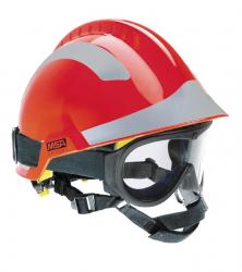MSA F2 X-TREM helm rood met bril