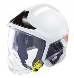 MSA Gallet F1-XF brandweerhelm wit met zilver